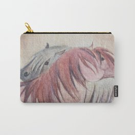 Grooming Shetland Ponies Carry-All Pouch