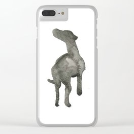 Eager Silhouette Clear iPhone Case