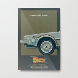 DeLorean Time Machine, Back to the Future Version 1 I/III Metal Print