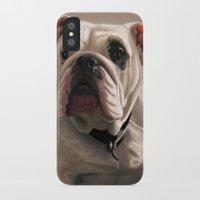 british iPhone & iPod Cases featuring British Bulldog by Mel Hampson
