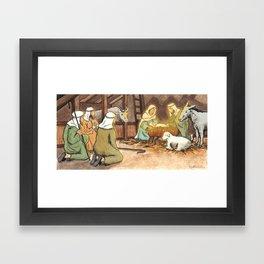 Christmas is Here Framed Art Print