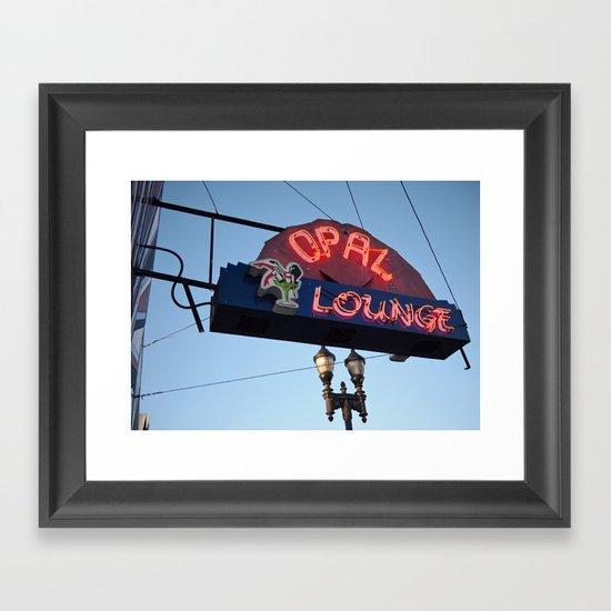 Classic neon Framed Art Print