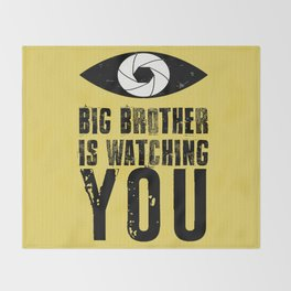 Big Brother is Watching YOU! Throw Blanket