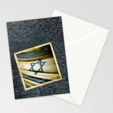 Israel grunge sticker flag Stationery Cards