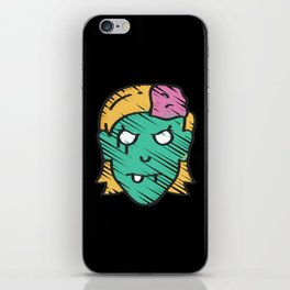 Cute Zombie Girl iPhone Skin