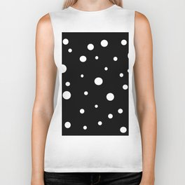 Black and White Polka Dots Biker Tank
