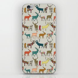 patterned deer stone iPhone Skin
