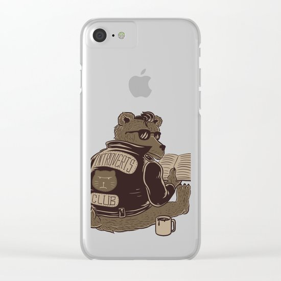 Introverts Club Clear iPhone Case