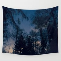 forrest Wall Tapestries featuring Night Forrest by Grahamstarr