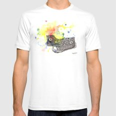 Converse Sneakers Painting Mens Fitted Tee White MEDIUM