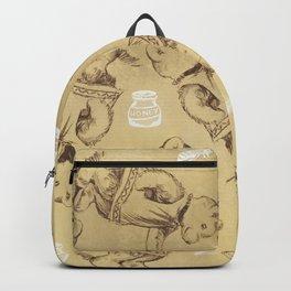 Cute bears and honey pattern Backpack