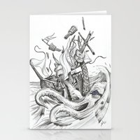 kraken Stationery Cards featuring Kraken by Incirrina