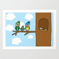 Proud Parrot Art Print