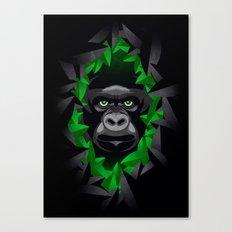 Shy Green Eyes Canvas Print