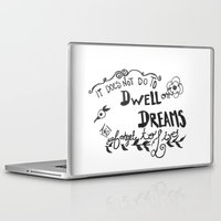 dumbledore Laptop & iPad Skins featuring Modern Harry Potter/Dumbledore Quote by Salty Books