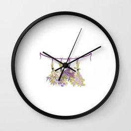 Herbs in Pastel Color #Unique Wall Clock