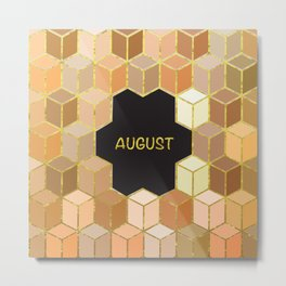 Cubes Of August Metal Print