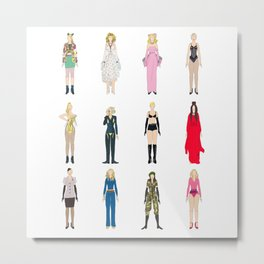 Outfits of Madge Fashion Metal Print