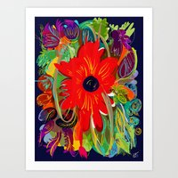 Beautiful flower art pattern decorative Art Print