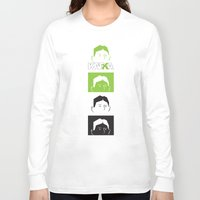kafka Long Sleeve T-shirts featuring Kafka Faces by Kafka Prepa Abierta