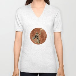 Death on a Penny Farthing Unisex V-Neck