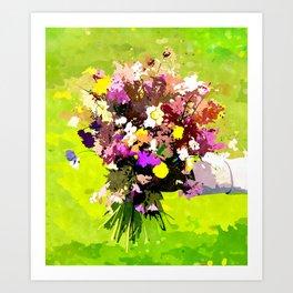 Flower Bearer Art Print