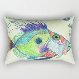 Funky Fish Art - By Sharon Cummings Rectangular Pillow