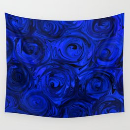 China Blue Rose Abstract Wall Tapestry