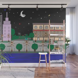Night City Wall Mural