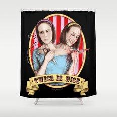 Tattler Twins (color) Shower Curtain