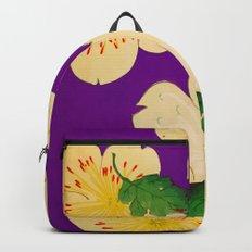 Purple Japanese Floral Vintage Pattern Backpack