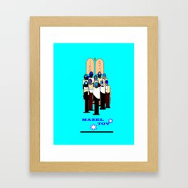 A Bar Mitzvah Design with Blue Background Framed Art Print