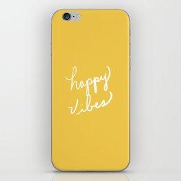 Happy Vibes Yellow iPhone Skin