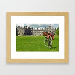 Cycling in Kilkenny Framed Art Print