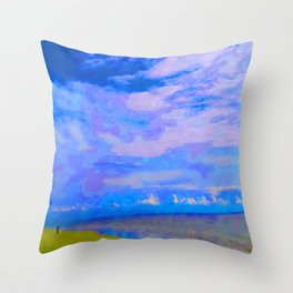 Horizon at Icacos Throw Pillow