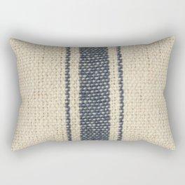 Vintage French Farmhouse Grain Sack Rectangular Pillow