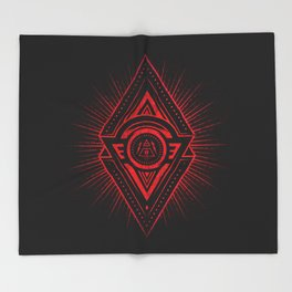The Eye of Providence is watching you! (Diabolic red Freemason / Illuminati symbolic) Throw Blanket