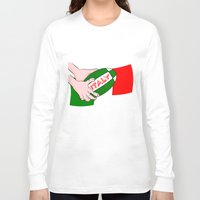 italy Long Sleeve T-shirts featuring Rugby Italy by mailboxdisco
