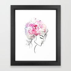Rose Girl Framed Art Print
