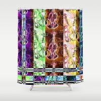 violin Shower Curtains featuring Violin multi by Emma Stein