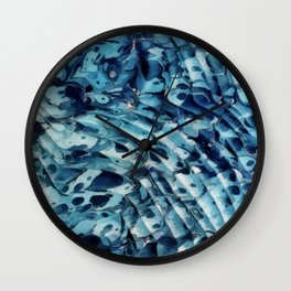Blue marbling vintage Wall Clock