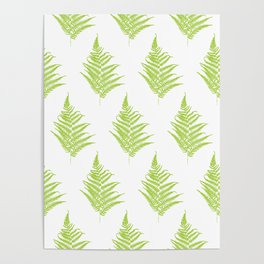 Fern frond silhouettes seamless pattern. Poster
