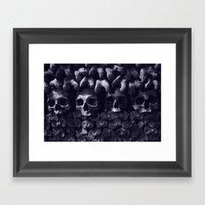 Skulls - Paris Catacombs, tinted version Framed Art Print