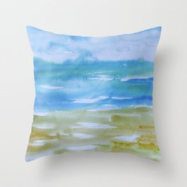 Miami Beach Watercolor #7 Throw Pillow