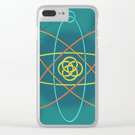 Line Atomic Structure Clear iPhone Case