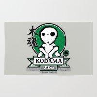 kodama Area & Throw Rugs featuring Kodama Sake by adho1982