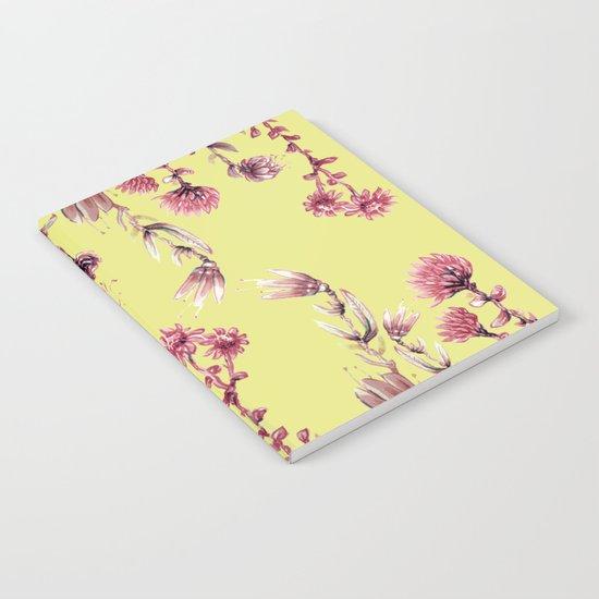 pink water color Garden Notebook