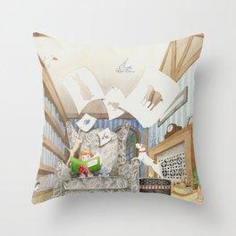 Nana's Sketchbook Throw Pillow
