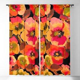 peach  floral Blackout Curtain