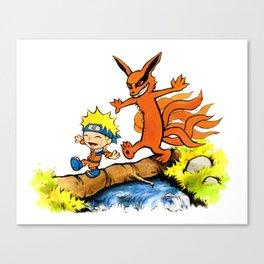 Homicidal Psycho Ninja Fox Canvas Print